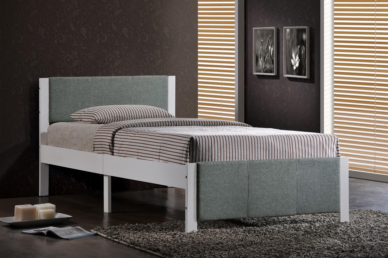Hillsdale Ventura Twin Bed - White - Grey