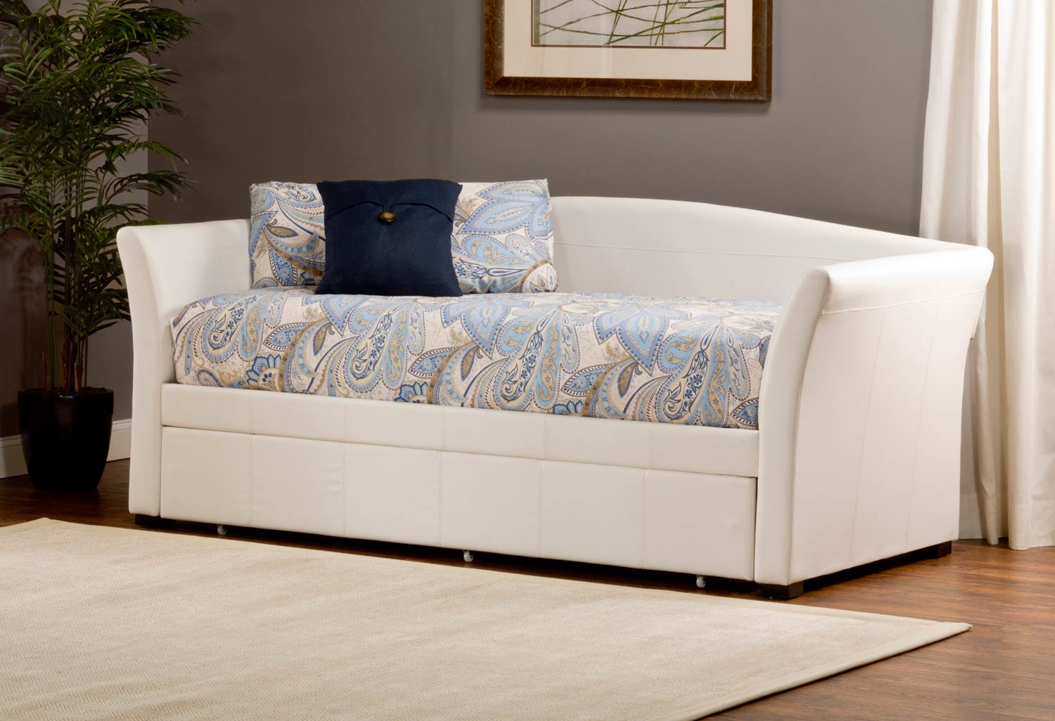 Hillsdale Montgomery Daybed with Trundle - White PU