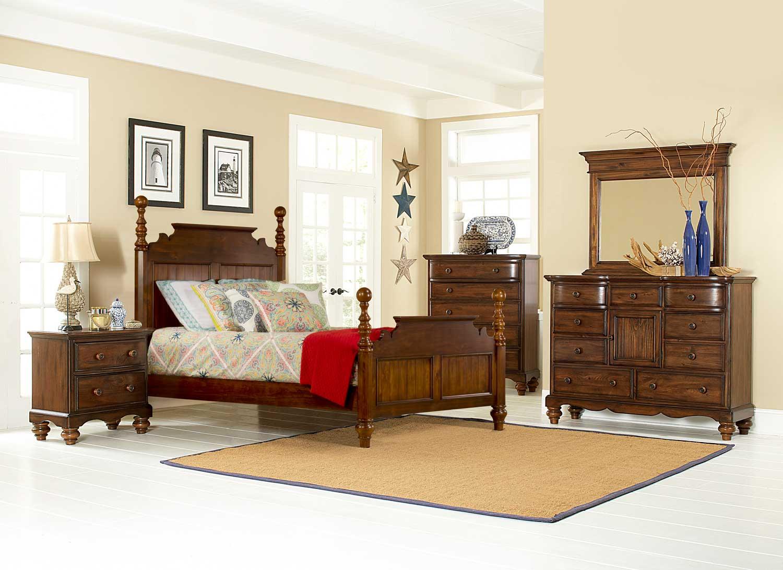 Hillsdale Pine Island Post Bedroom Set
