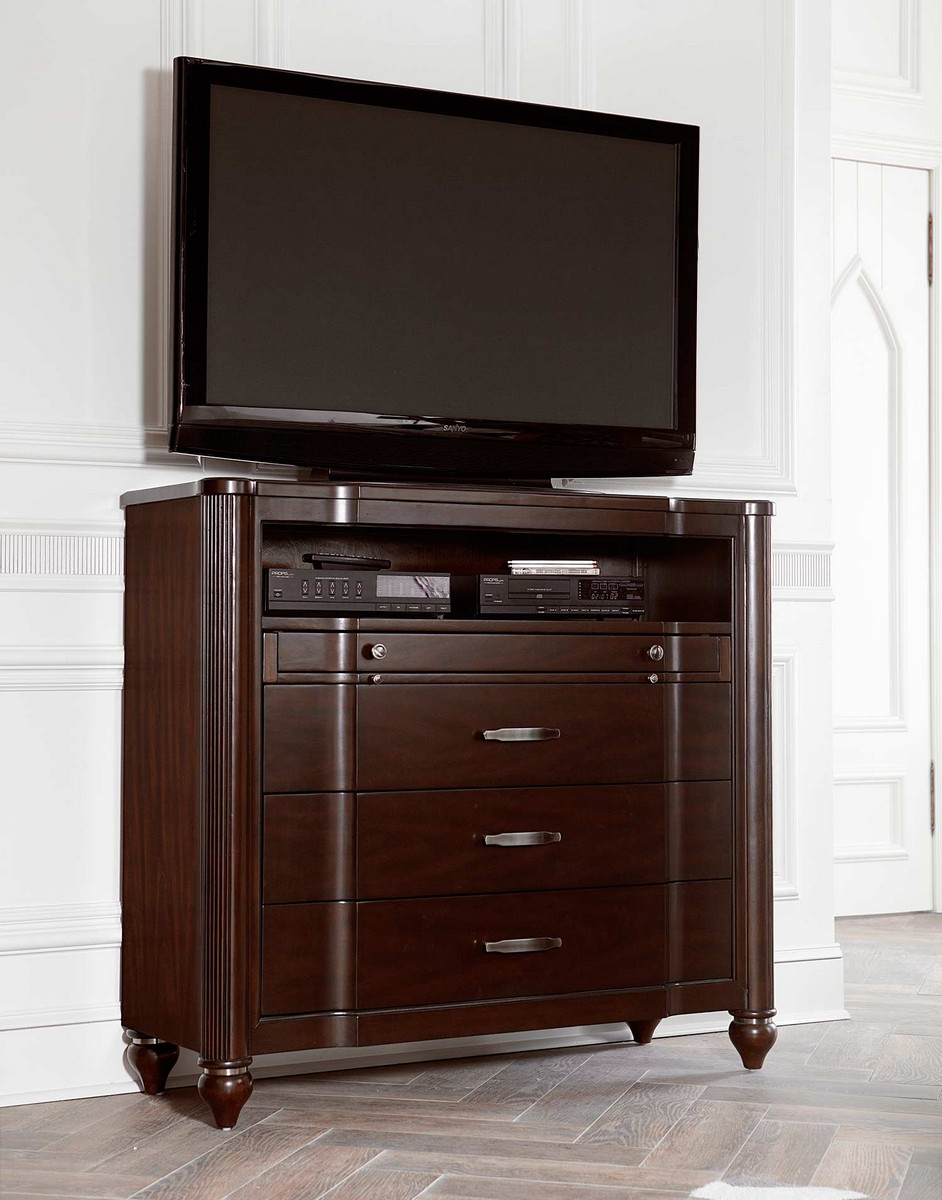 Hillsdale Roma Media Chest - Espresso Cherry
