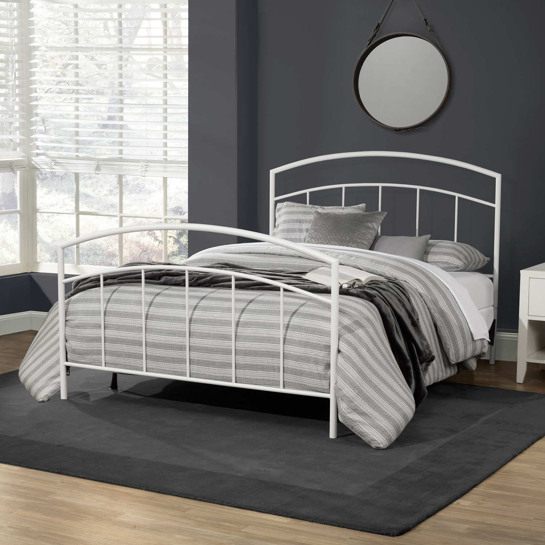 Hillsdale Julien Metal Bed - Textured White