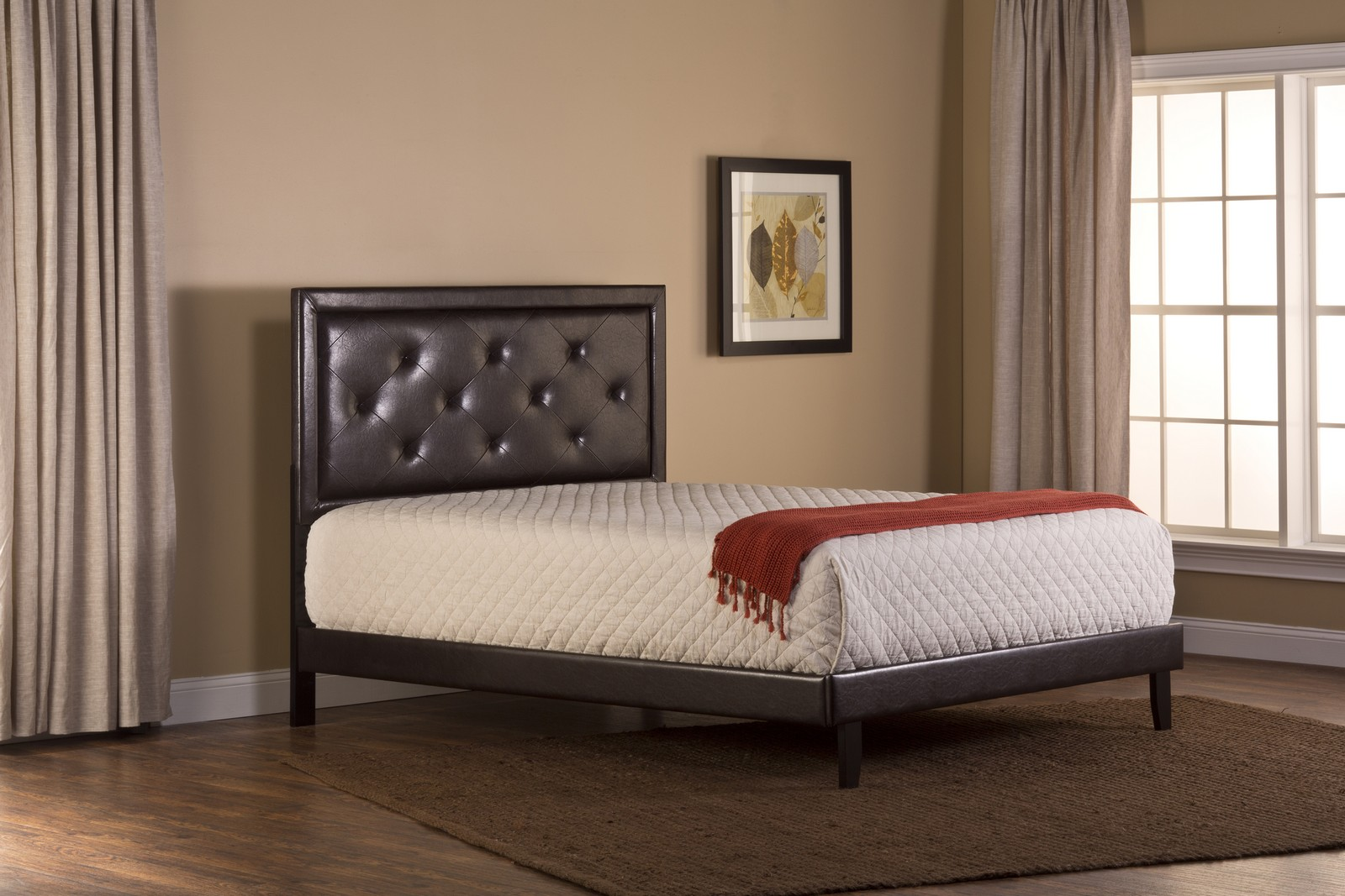 Hillsdale Becker Bed - Brown Faux Leather