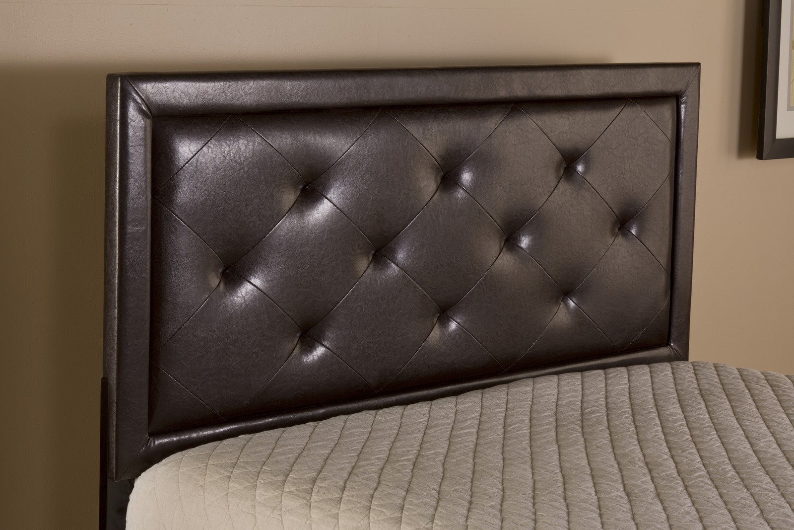 Hillsdale Becker Headboard - Brown Faux Leather