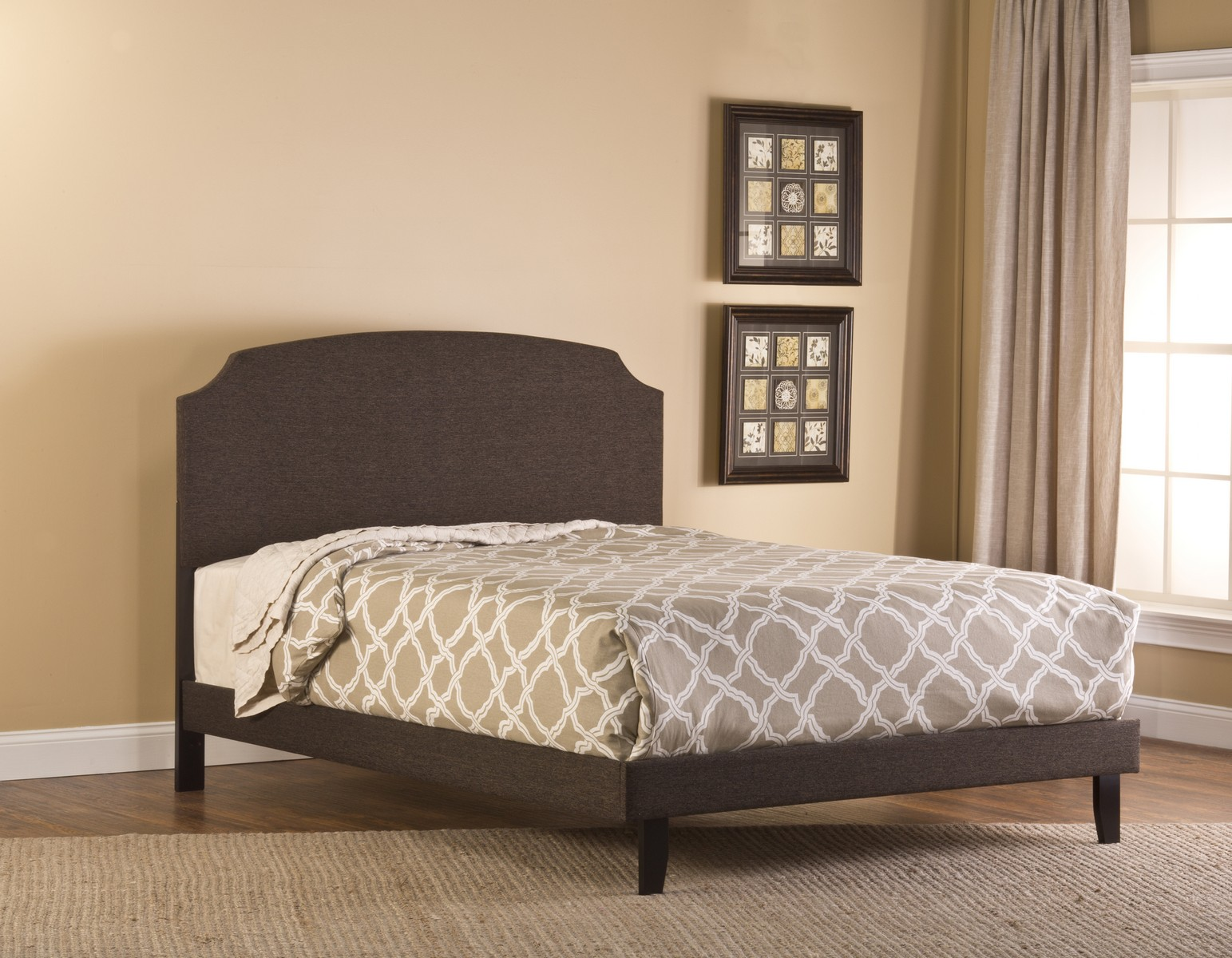 Hillsdale Lawler Bed - Black/Brown Fabric
