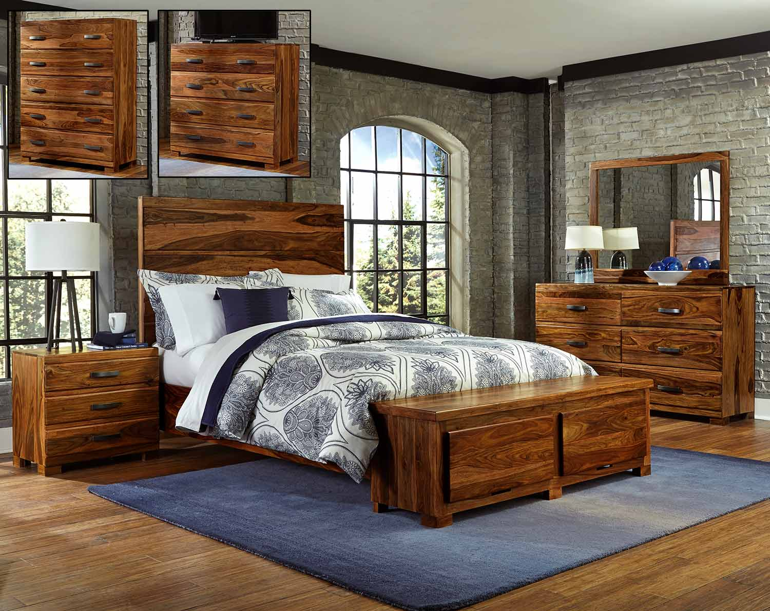 Hillsdale Madera Storage Bedroom Set - Natural