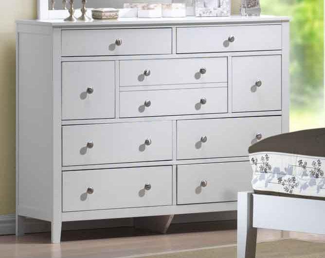 Hillsdale Dio Dresser White Finish
