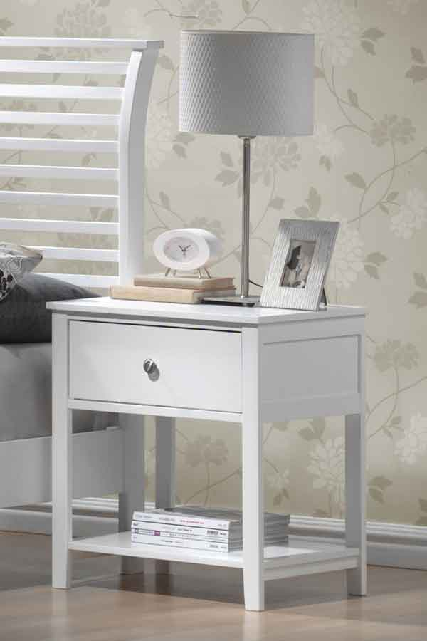 Hillsdale Dio Large Nightstand White Finish