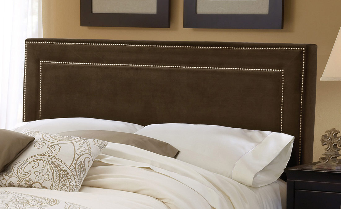 HD-1554HQRA Amber Fabric Headboard - Chocolate