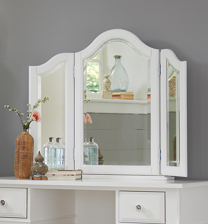 NE Kids Lake House Vanity Jewelry Mirror - White