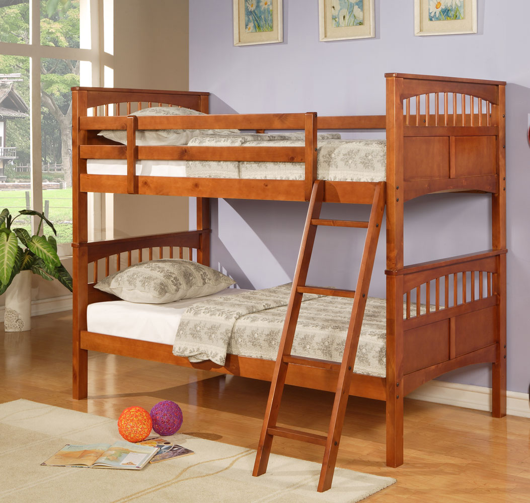 Hillsdale Taylor Falls Twin Bunk Bed - Medium Pine