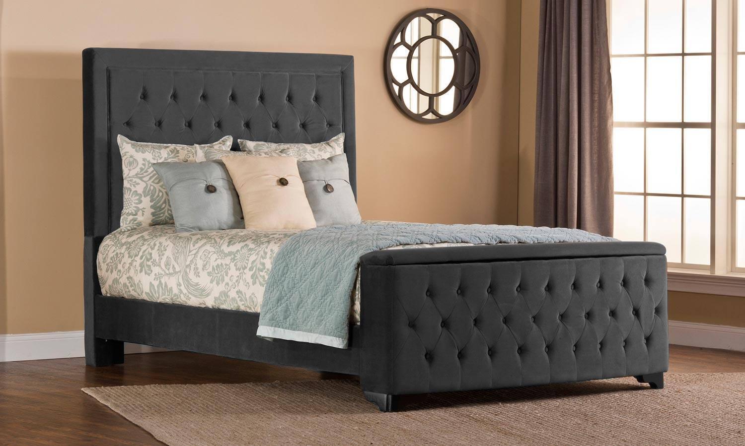 Hillsdale Kaylie Bed with Storage - Pewter