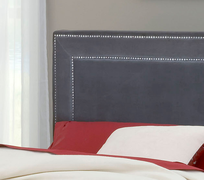 Hillsdale Amber Fabric Bed - Pewter