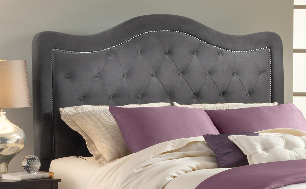 Hillsdale Trieste Tufted Upholstered Bed - Pewter