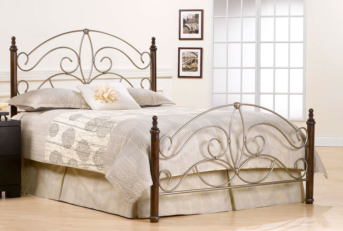 Hillsdale Kingsfort Bed - Silver Pewter