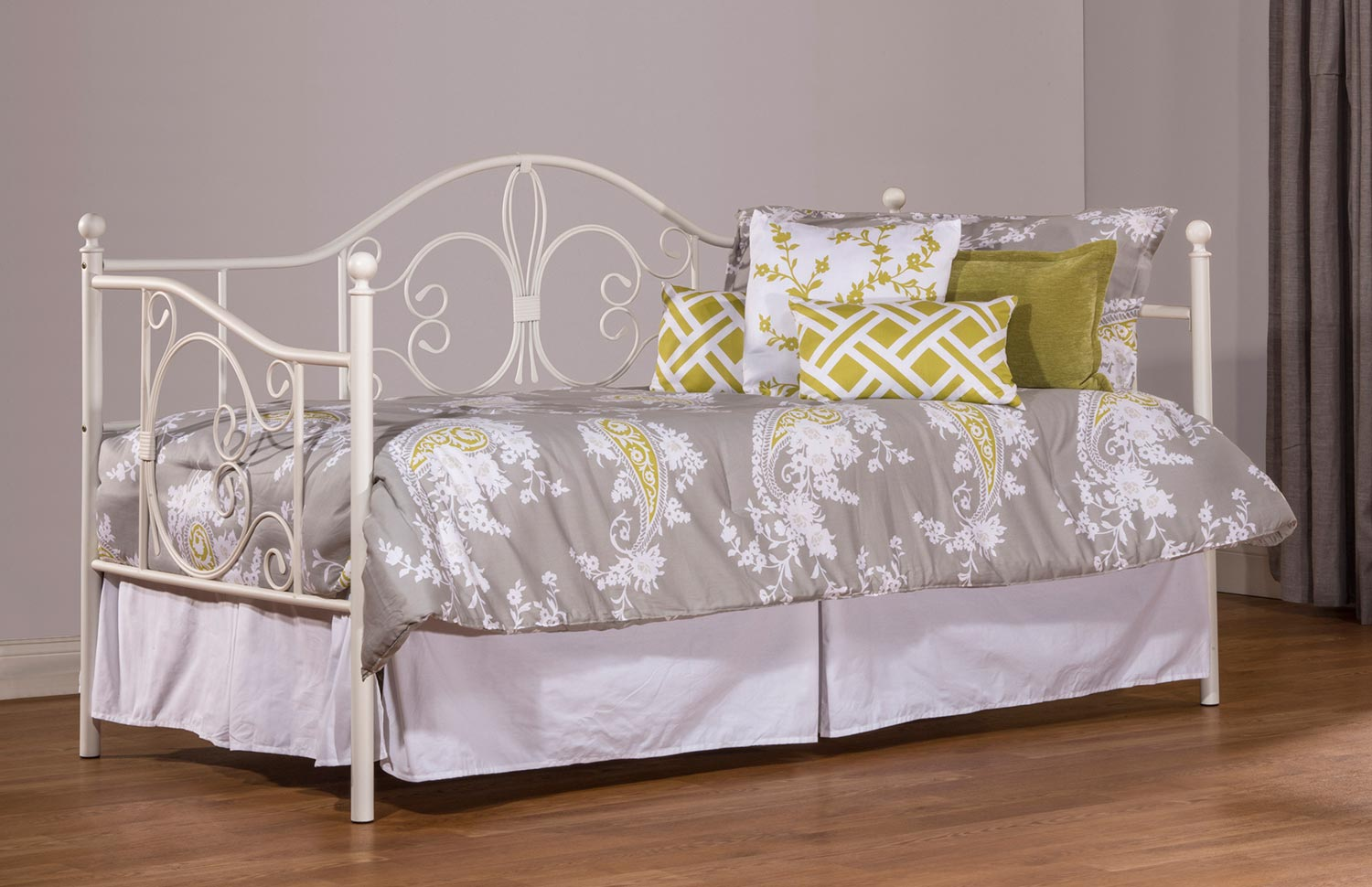 Hillsdale Ruby Daybed with Suspension Deck - Textured White