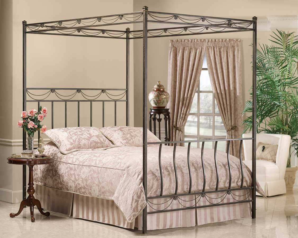 Hillsdale Camelot Metal Canopy Bed Hd 171 Cnp Bed At