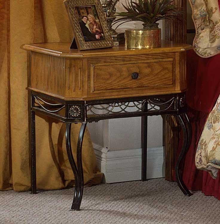 Hillsdale Camelot Metal Wood Nightstand In Oak Hd 1710 771