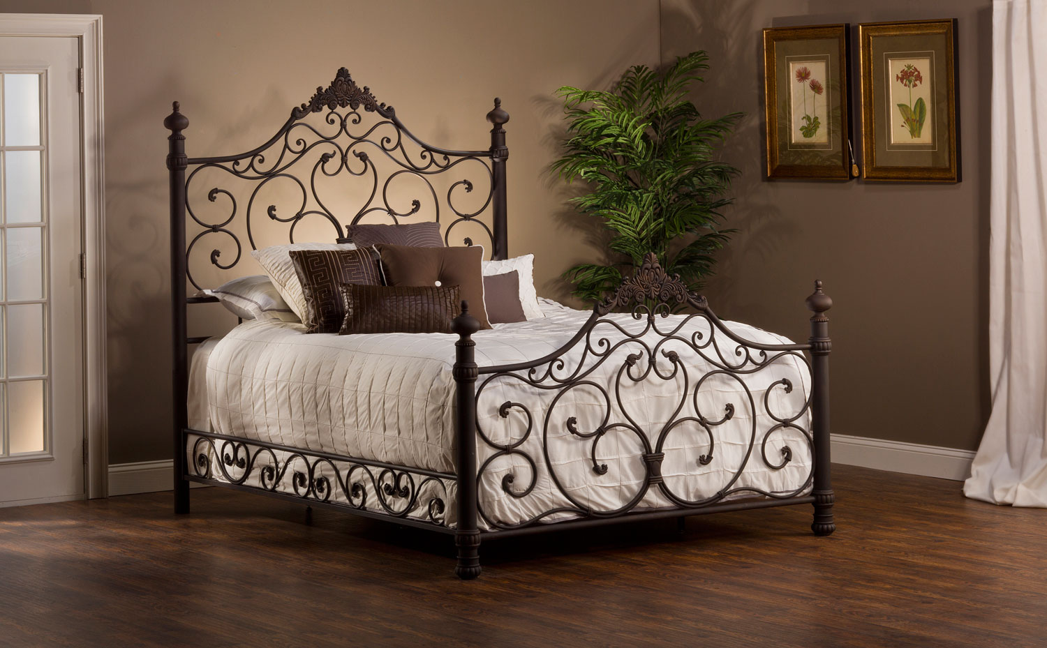 Hillsdale Baremore Metal Bed - Antique Brown