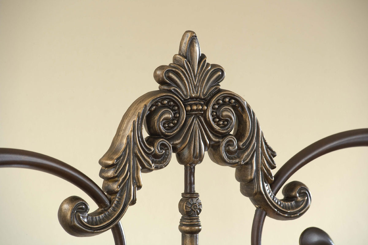 Hillsdale Newton Headboard - Antique Brown Highlight