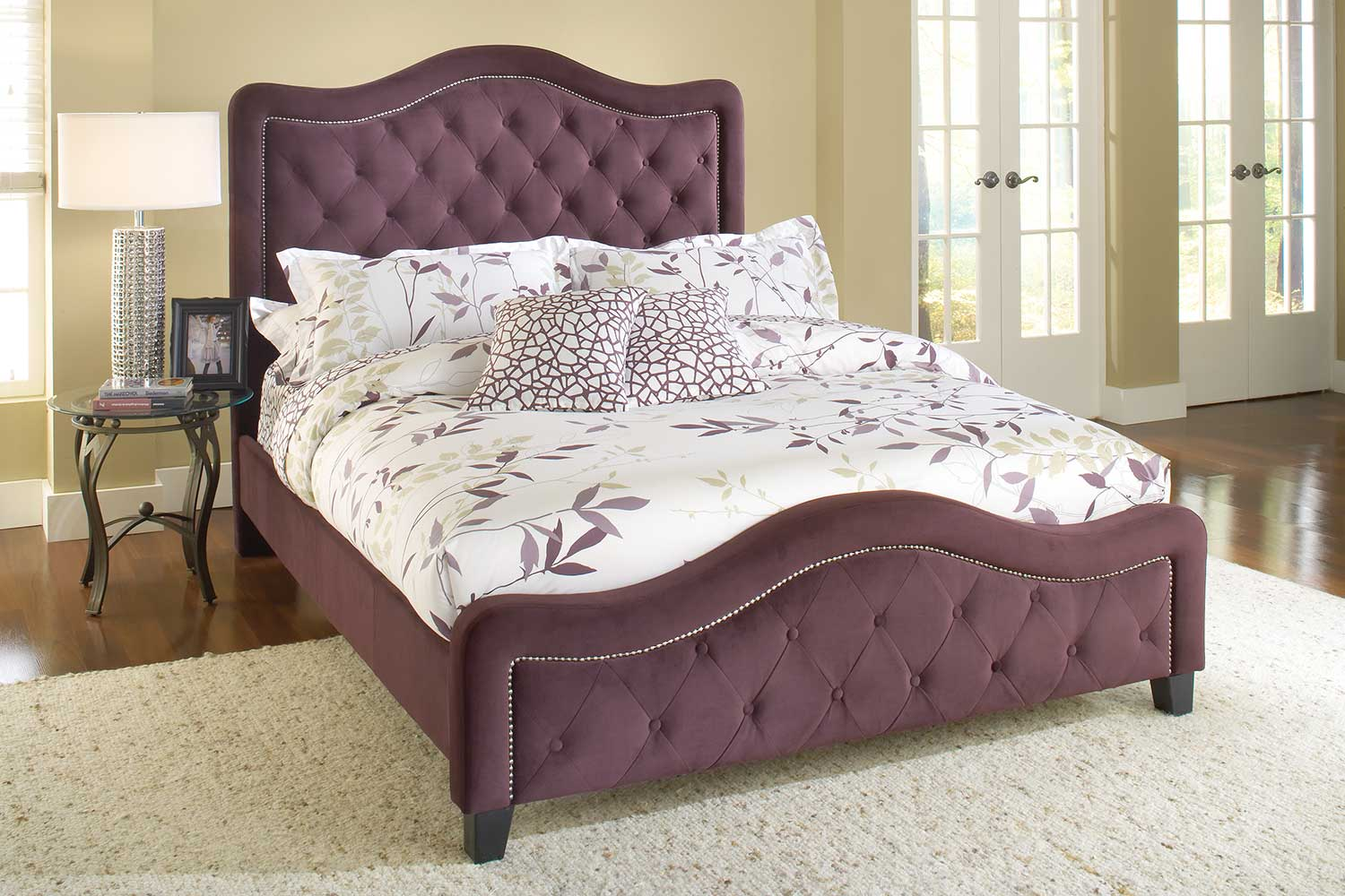 Hillsdale Trieste Tufted Upholstered Bed - Purple