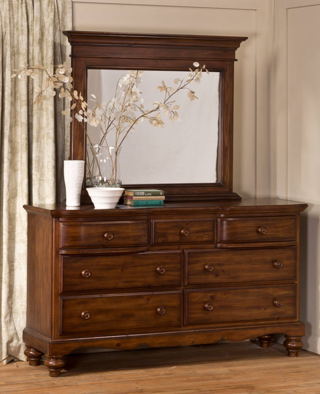 Hillsdale Hamptons Dresser - Dark Pine