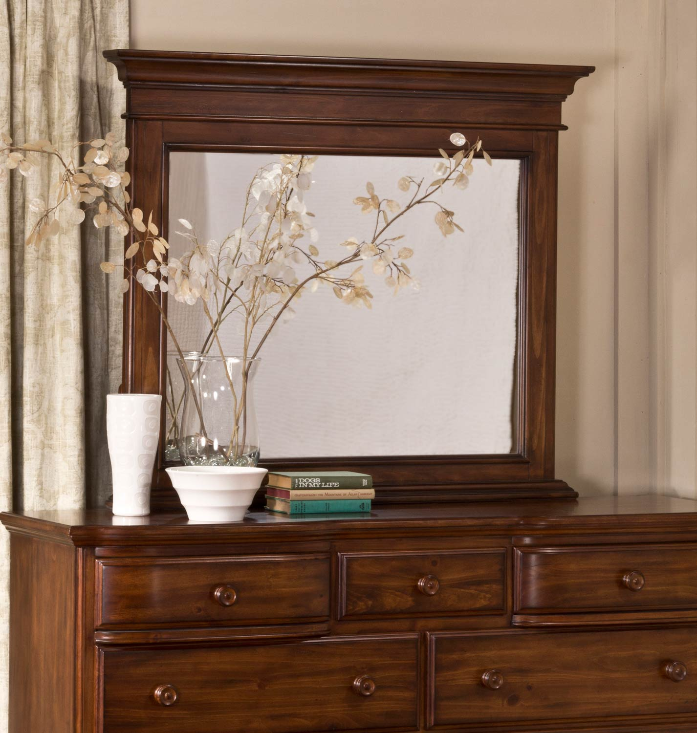 Hillsdale Hamptons Sleigh Bedroom Collection Dark Pine