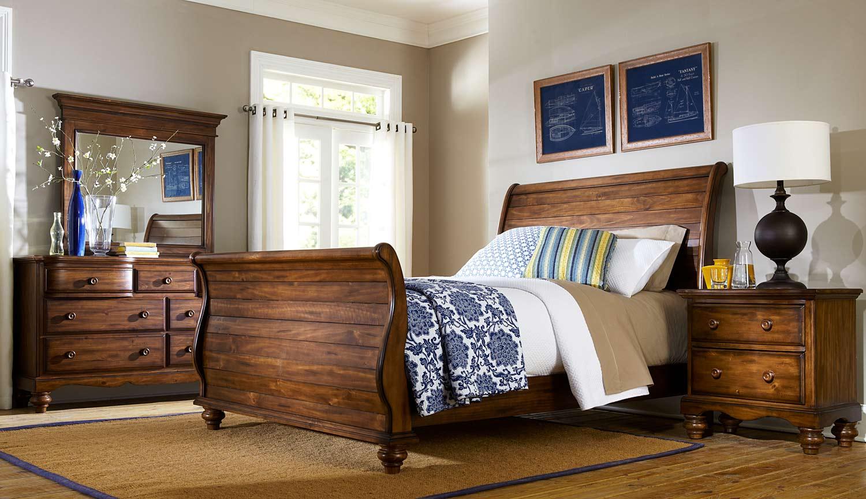 sleigh bedroom collection dark pine 1763 bed set