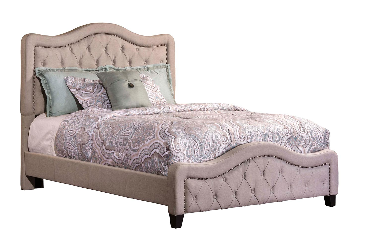 Hillsdale Trieste Tufted Upholstered Bed - Dove Gray