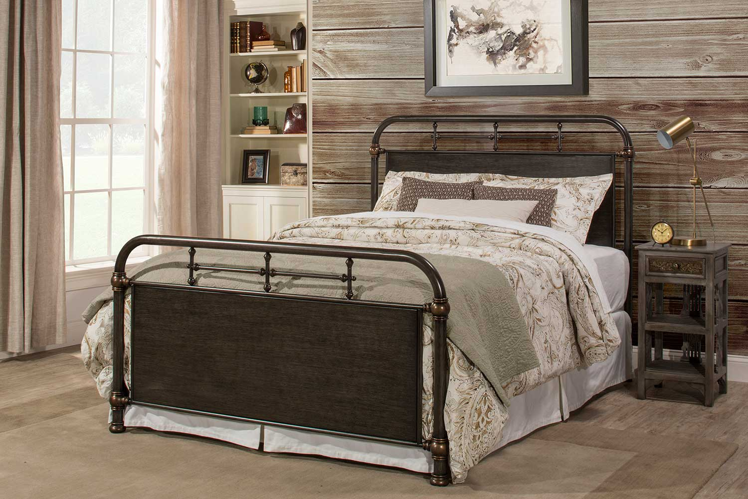 Hillsdale Logan Bed - Rubbed Black