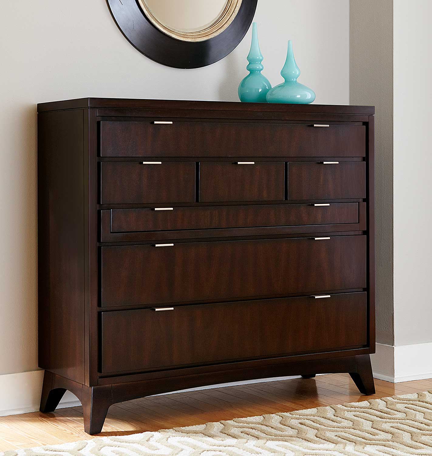 Hillsdale Denmark Large Media Chest - Dark Espresso