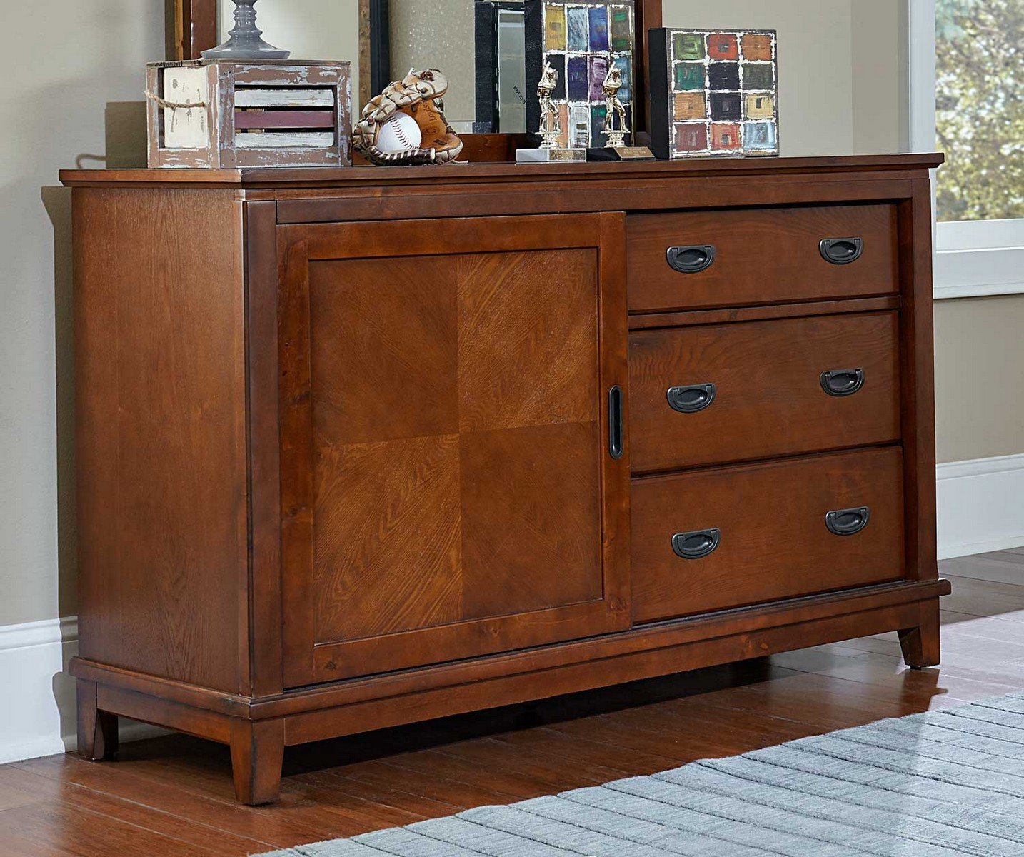 Hillsdale Bailey Dresser - Mission Oak