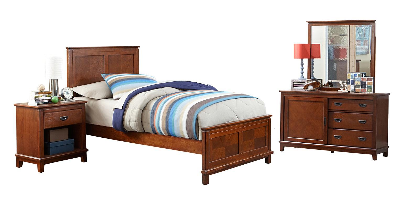 Hillsdale Bailey Panel Bedroom Set - Mission Oak
