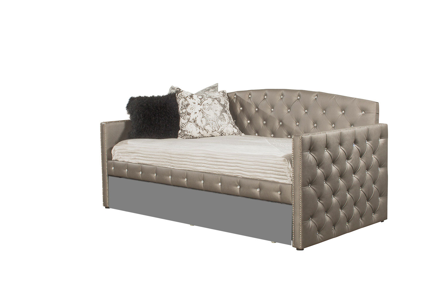 Hillsdale Memphis Daybed - Diva Pewter Faux Leather