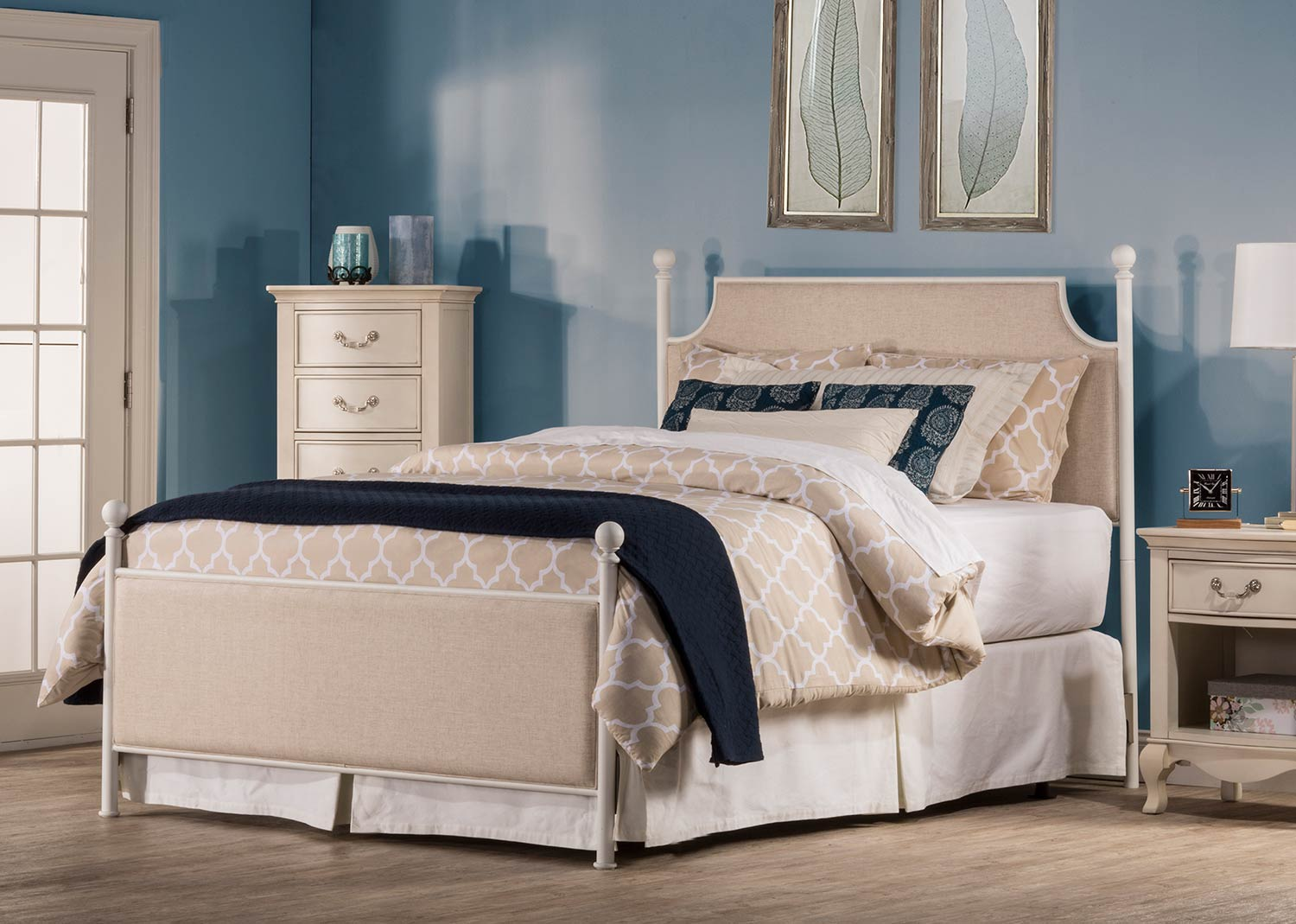 Hillsdale McArthur Bed - Off-White - Oatmeal Linen Fabric