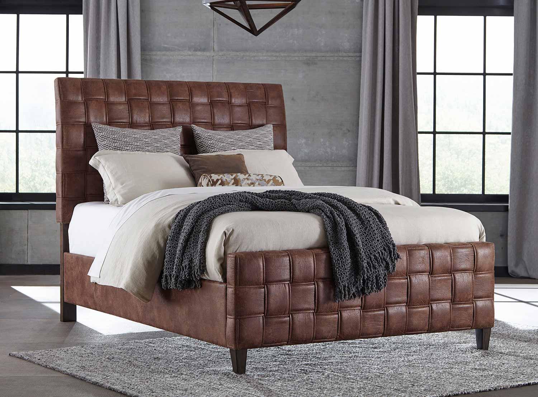 Hillsdale Riley Upholstered Bed - Light Brown Leatherette