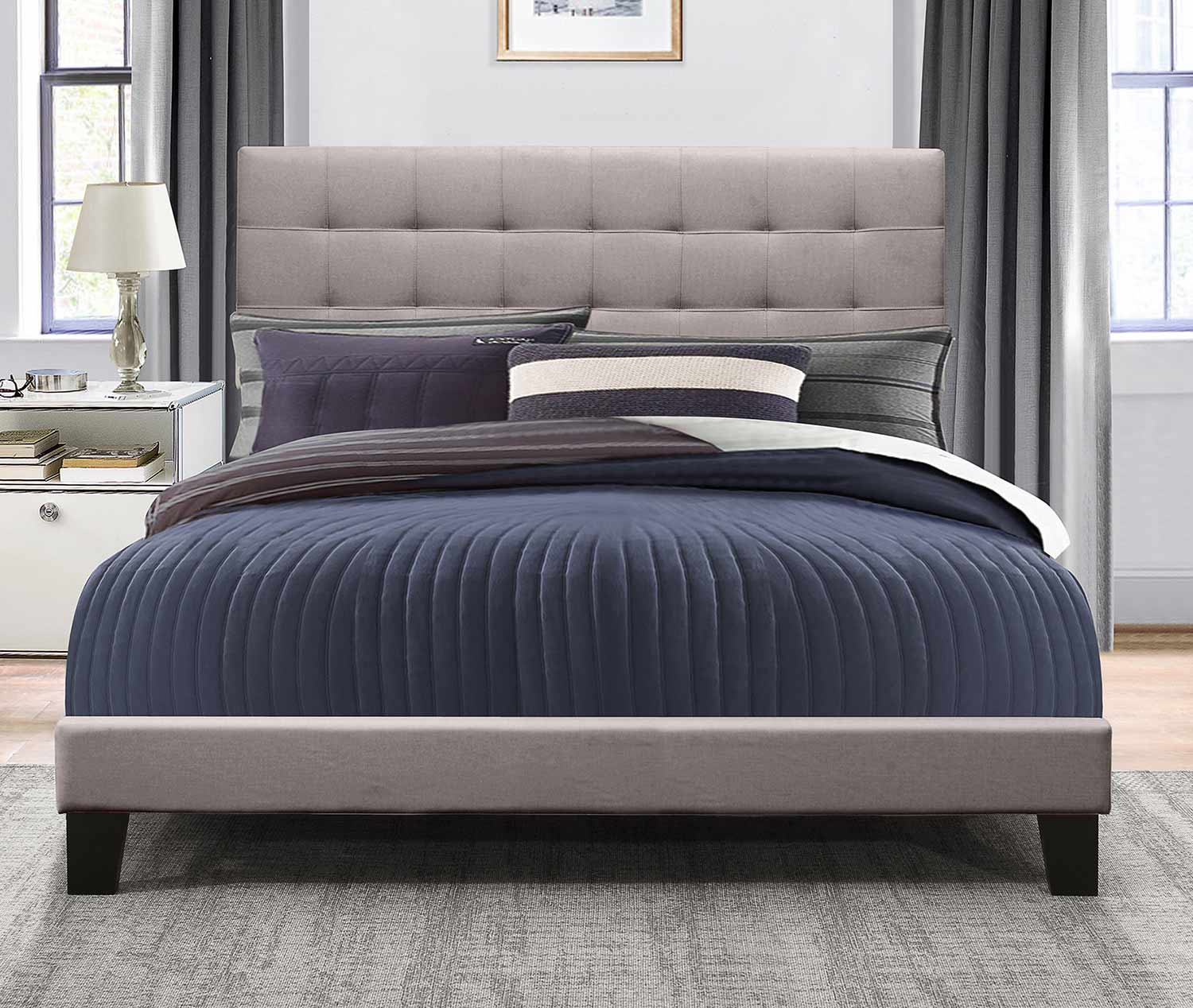 Hillsdale Delaney Bed - Stone