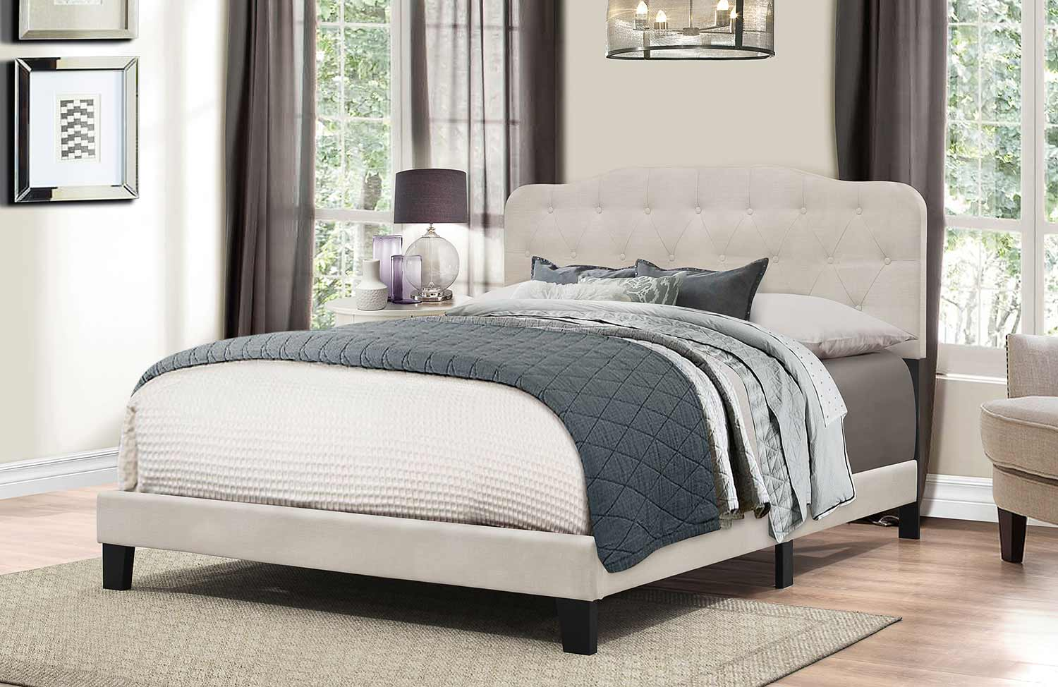 Hillsdale Nicole Bed - Fog Fabric