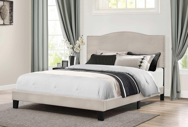 Hillsdale Kiley Bed - Fog Fabric