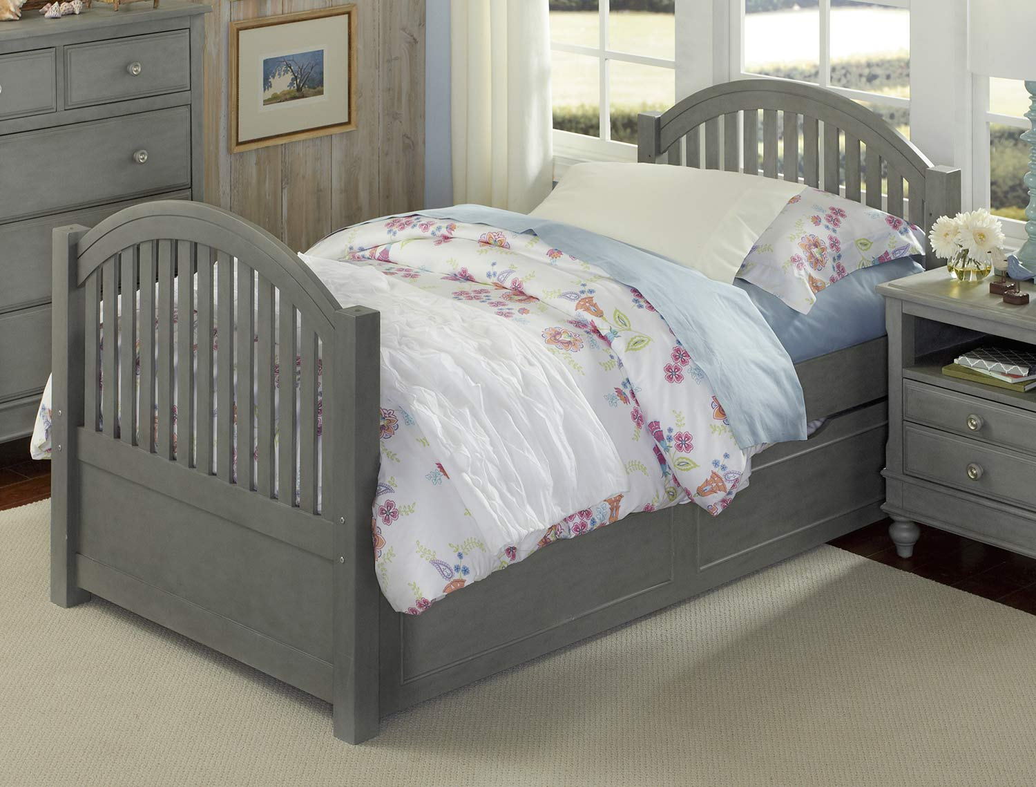 NE Kids Lake House Adrian Twin Bed With Trundle - Stone