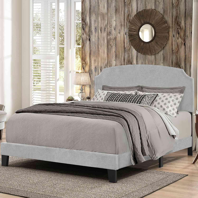 Hillsdale Desi Bed - Glacier Gray Fabric