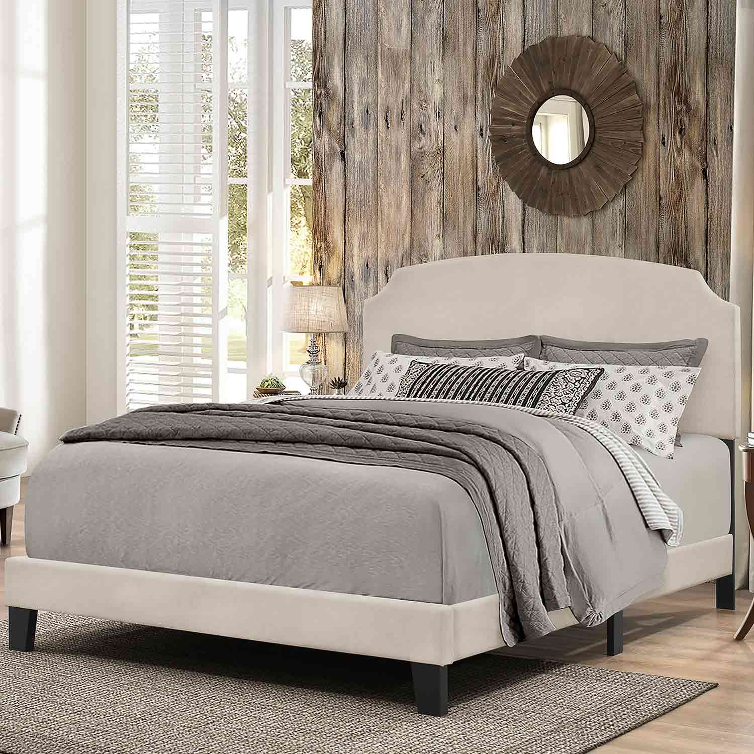 Hillsdale Desi Bed - Fog Fabric