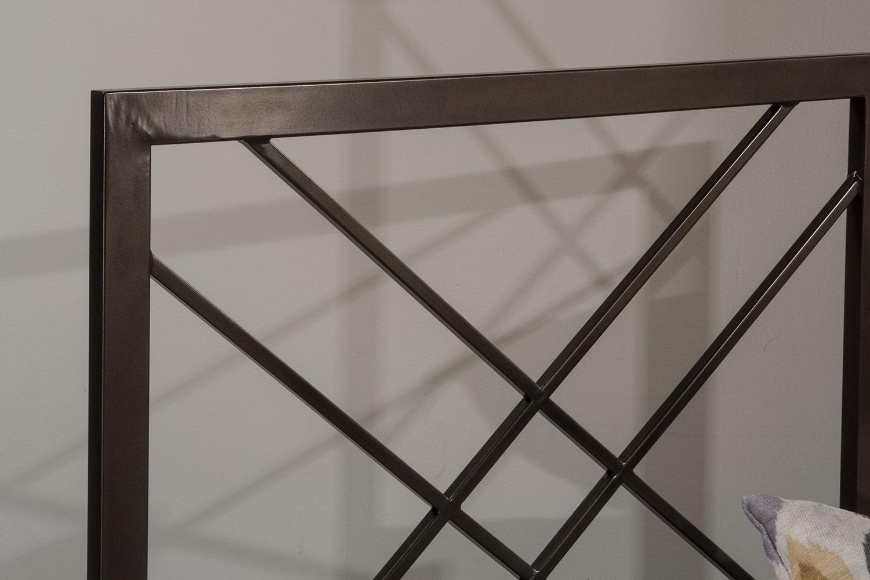 Hillsdale Westlake Metal Headboard - Magnesium Pewter