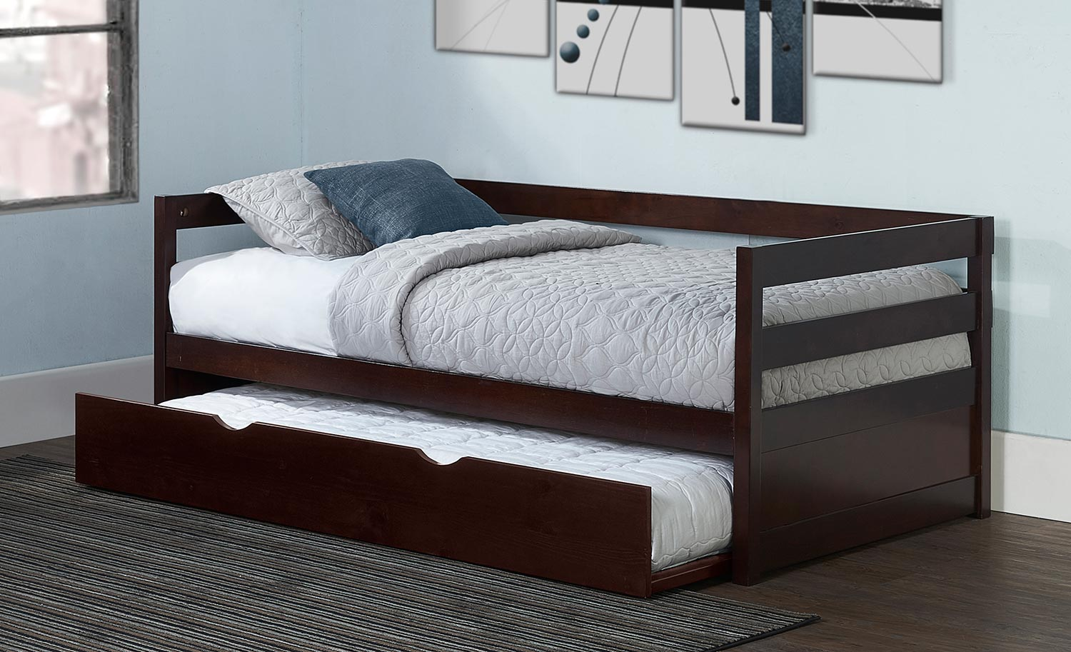 Hillsdale Caspian Daybed With Trundle - Chocolate