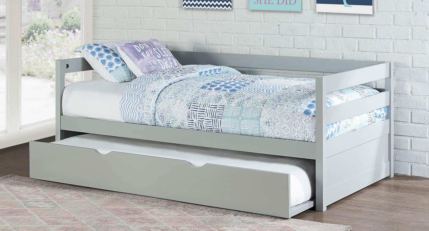 Hillsdale Caspian Daybed With Trundle - Gray