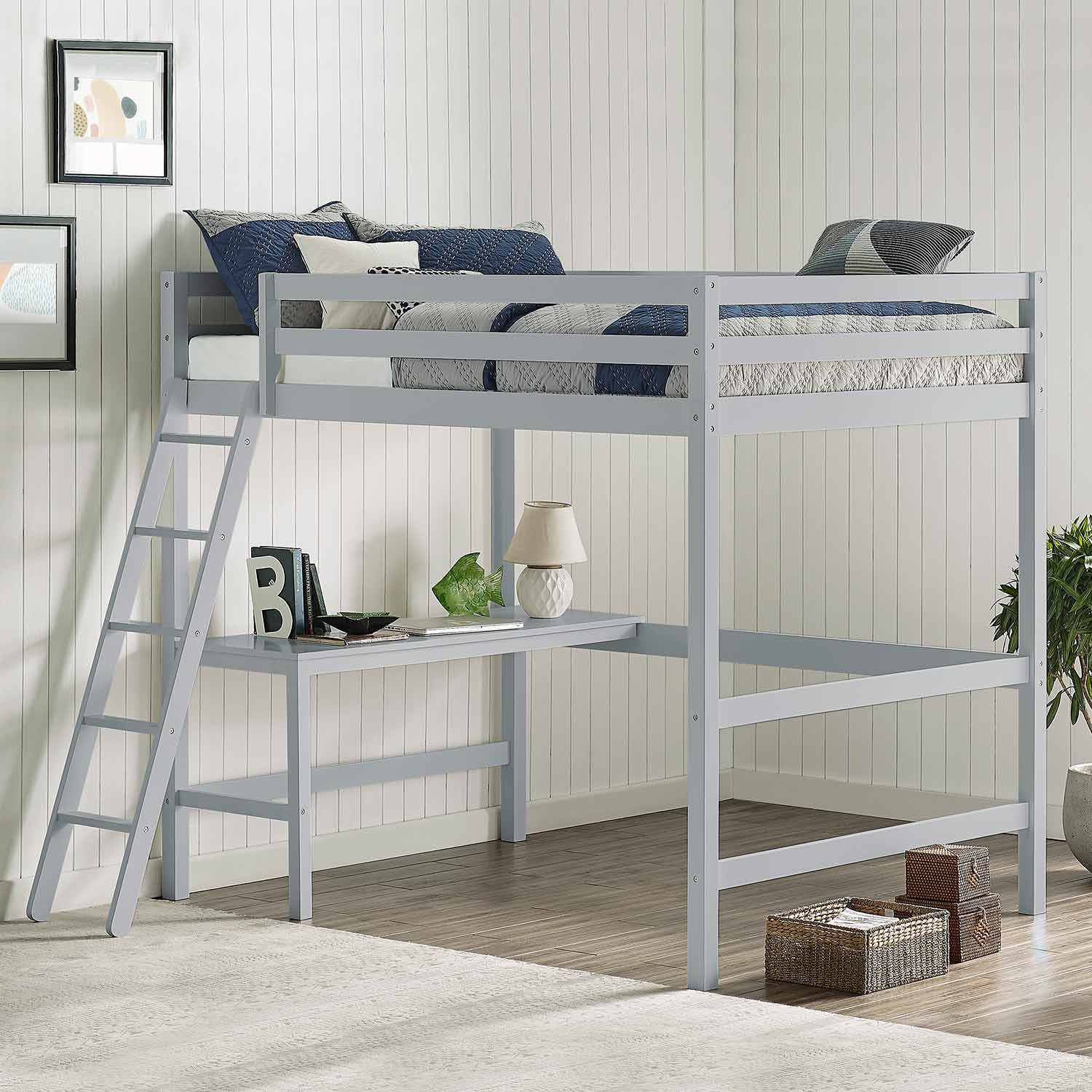 Hillsdale Caspian Full Loft Bed Gray Hd 2177fl At