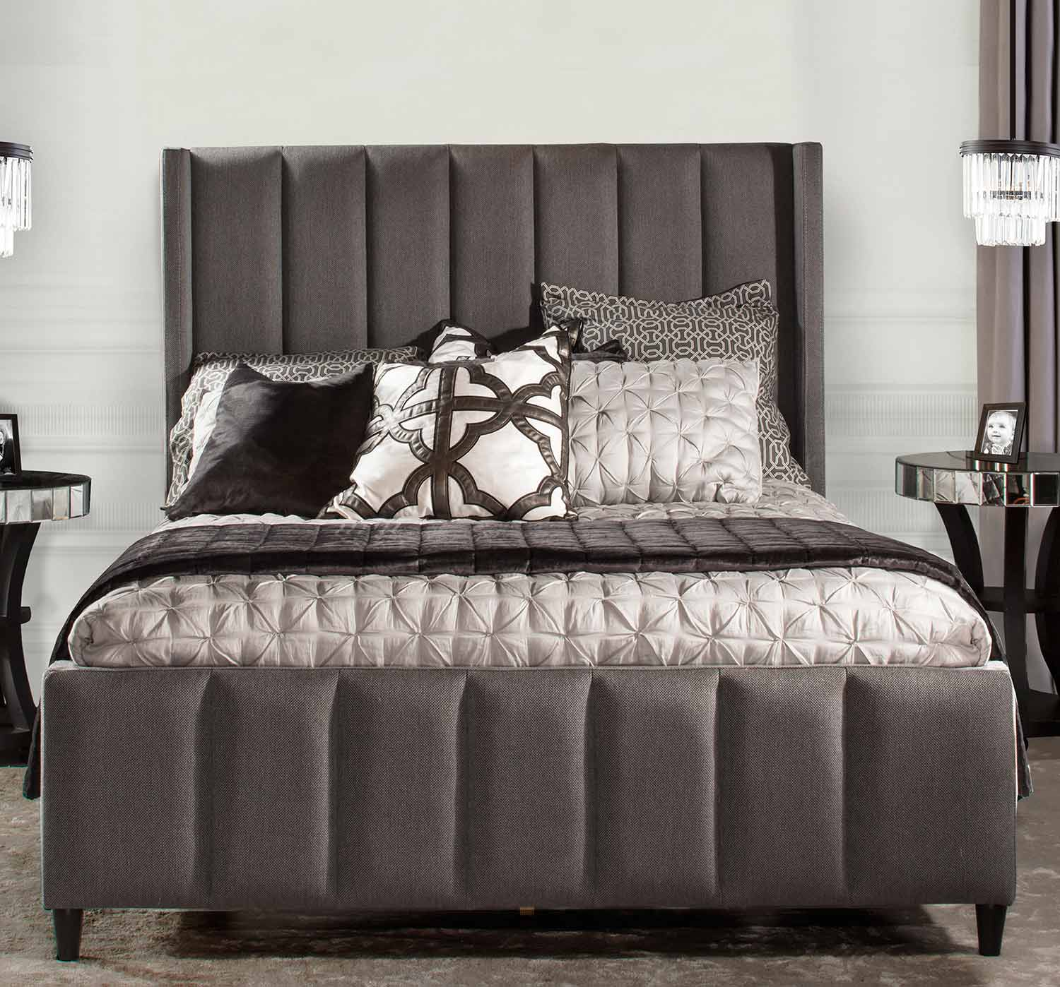 Hillsdale Concord Bed - Linen Charcoal