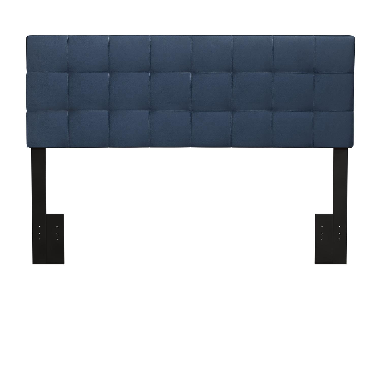 Hillsdale Delaney Upholstered Headboard - Blue Velvet