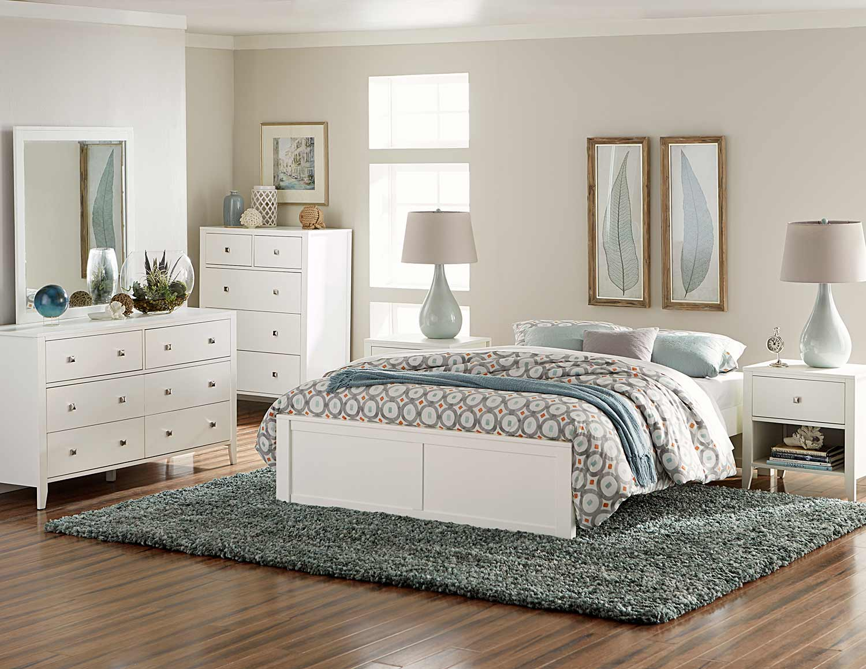 NE Kids Pulse Platform Bedroom Set - White