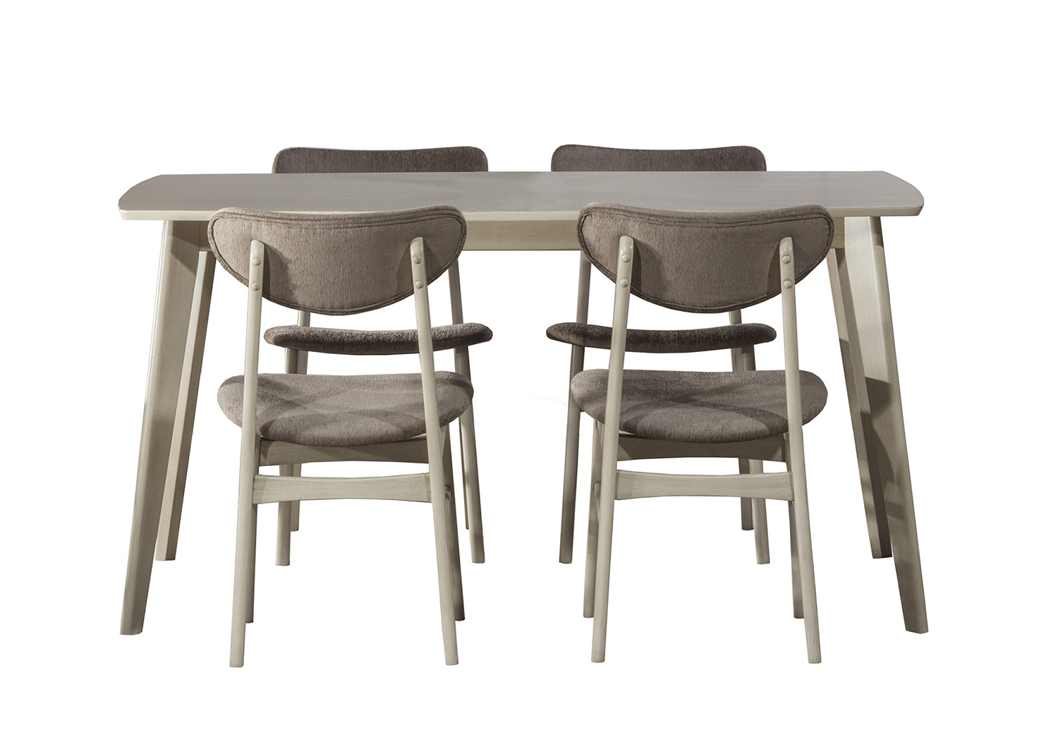 Hillsdale Bronx 5-Piece Rectangle Dining Set - Light Weathered Gray
