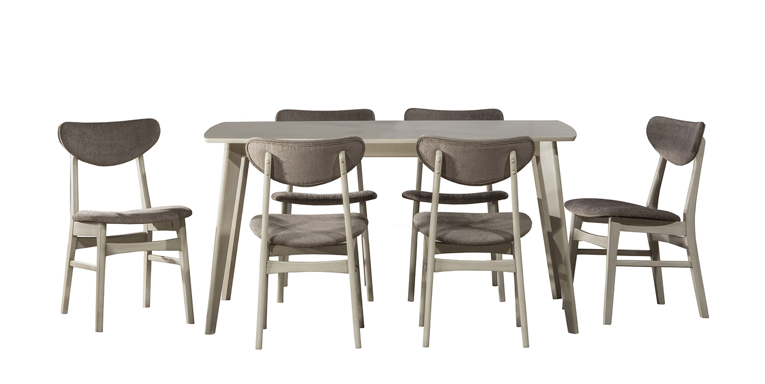 Hillsdale Bronx 7-Piece Rectangle Dining Set - Light Weathered Gray